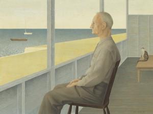 Man on Verandah — painting by Alex Colville
