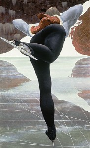 Skater — painting by Alex Colville