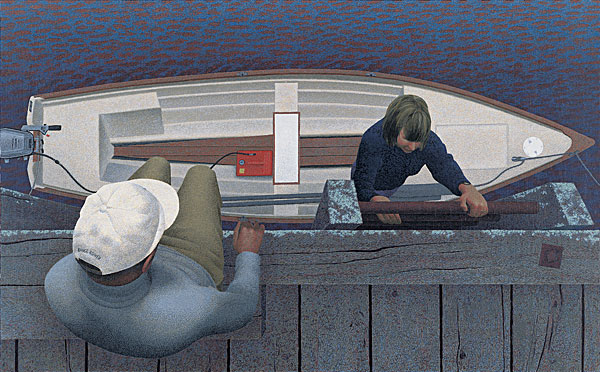 Embarkation — painting by Alex Colville