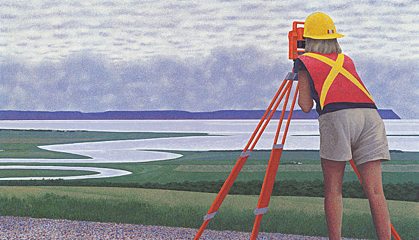 Surveyor — painting by Alex Colville